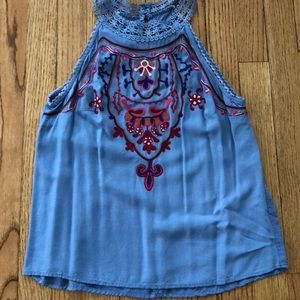 Living Doll embroidered tank